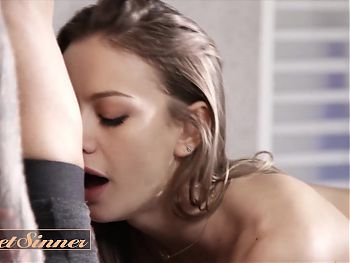 Hot Brunette Nicole Can't Get Enough Of Kurt's Hot Thick Cock