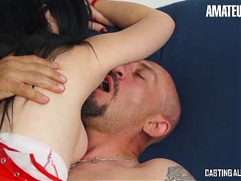 AMATEUR EURO - Luna and Omar – Anal Session At Hardcore Casting