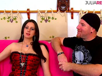 Hard brutal threesome in her 1st fuck casting