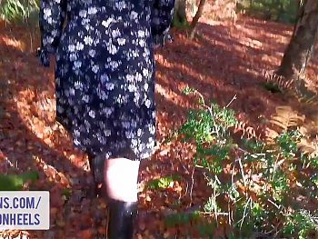 Flashing and Pissing in the Forest - Shannon Heels