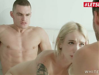 WHITE BOXXX - Teen Arteya Starts Her Morning With Two Cocks